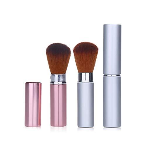 Reise-Make-up-Pinsel, einziehbar, für Rouge, Bronzer oder Textmarker, 2 Stück