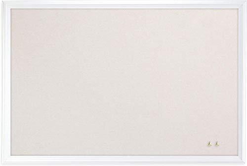 U Brands Cork Linen Bulletin Board, 20 x 30 Inches, White Wood Frame (2074U00-01), 1 Pack
