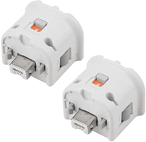 2 pack Wii Motion Plus Adapter Sensor Accelerator Attachment for Nintendo Wii wii U Controller, White