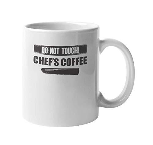 N\A Berühren Sie Nicht den Kaffee des Küchenchefs. Humorvoller Kaffee- und Tee-Geschenkbecher für Chefkoch, Küchenchef, Kochkünstler, Hash-Slinger, Gourmet oder Sous-Chef (11 Unzen)