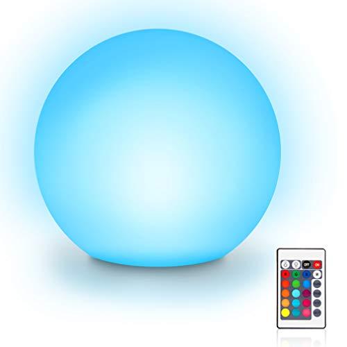 Lampada a sfera a LED, impermeabile, galleggiante per piscina, 8 luci dimmerabili, 16 RGB, batteria sostituibile, impermeabile IP65, decorazione per piscina, 15 cm, 16 colori