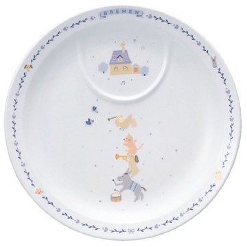 NARUMI(ナルミ)子ども用食器セットブレーメンブルー4個セット電子レンジオーブン対応日本製7980-33139