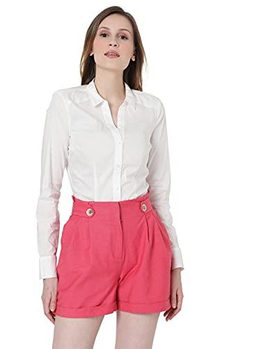 Vero Moda Vmlady L/S G-String Shirt Noos Blusas, Color Blanco Nieve, XS para Mujer