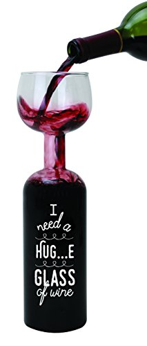 BigMouth Inc. Giant Wine Bottle Glass – Holds an entire...