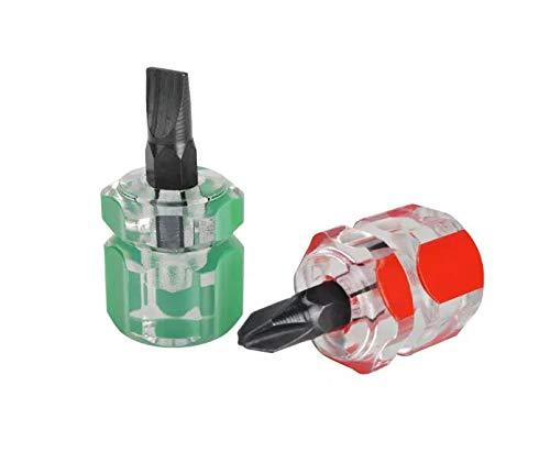 RENCALO 10 Juegos de 2 Piezas de Destornilladores Phillip magnéticos Antideslizantes + Destornillador de un Solo Lado