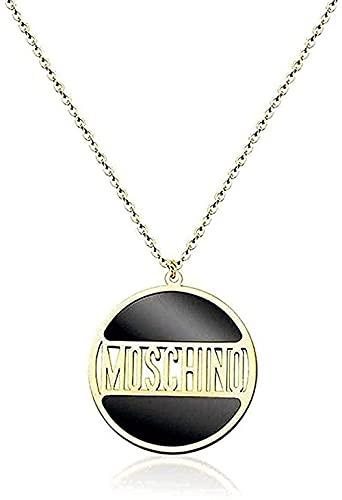 Collar con alfabeto inglés, cadena de clavícula, anillo de personalidad, colgante, regalo, accesorios de regalo