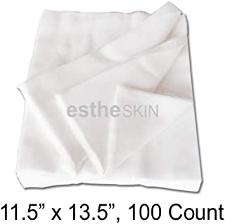 estheSKIN 100% Cotton Pure White Cutting Gauze for Professional Facial Treatment and More, 11.5