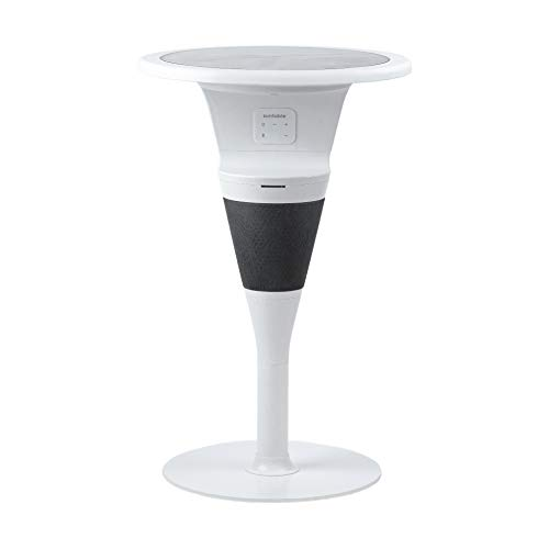 SUNTABLE - Outdoor Solar-Powered Table with Sound by JBL - Bluetooth Speaker and Inductive/USB Device Charging