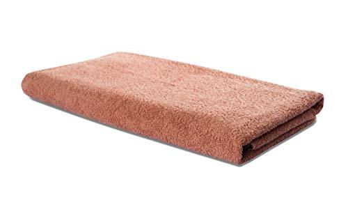Carenesse Serviette spécial sauna, en tissu épais (500 g/m²), Rouge terre cuite, 75 x 200 cm
