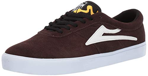 Lakai Footwear Sheffield Simon SuedeSize 7 Tennis Shoe, Chocolate Suede, 7 Standard US Width US