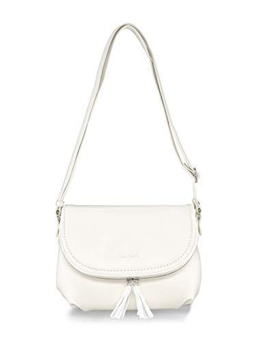 TOM TAILOR Damen Taschen & Geldbörsen Umhängetasche mit Quasten-Detail white,OneSize