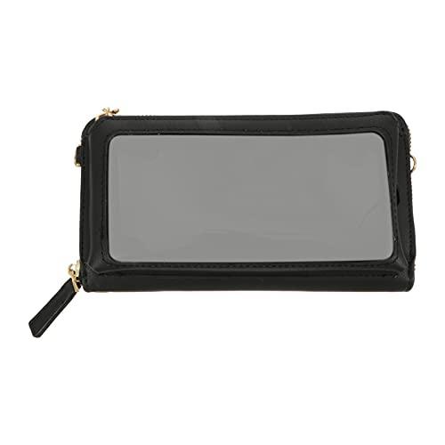 VALICLUD PU Touch Screen Mobile Phone Bag Transparent Lipstick Cross Bag Mini Messenger Bag Satchel Shoulder Handbags Crossbody Bag