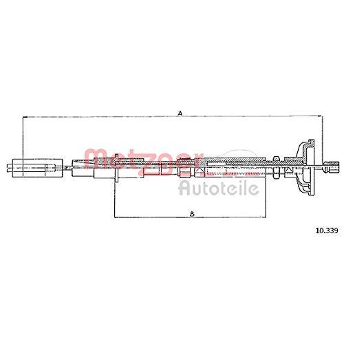 Metzger 10.339 COFLE Seilzug, Kupplungsbetätigung