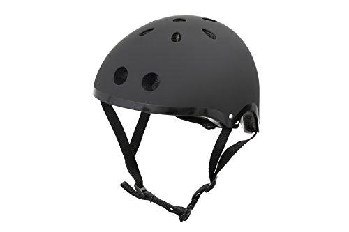 hornit Kinderhelm Fahrradhelm für Mädchen und Jungs Herren und Damen - Komplett einstellbar - LED Rücklicht - Für Fahrrad, BMX, Go-Kart, Scooter oder Skateboard - (Small, Black Stealth)