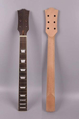 Yinfente Guitar Neck 22 fret 24.75 inch Mahogany Rosewood Fretboard Guitar Neck Replacement Set in SG (bolt on style)