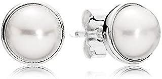 290727P Elegant Beauty White Freshwater Cultured Pearls Earrings (7 mm)