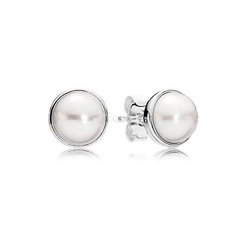 Boucles d'oreilles Pandora 290727P, pour femme, en argent Sterling 925 et perle blanche