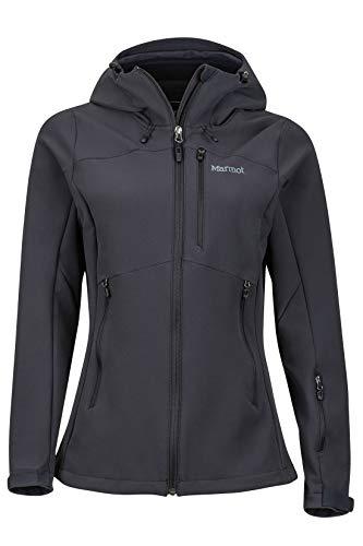 Marmot Damen Softshelljacke Funktions Outdoor Jacke, Wasserabweisend Wm's Moblis, Black, XL, 45750