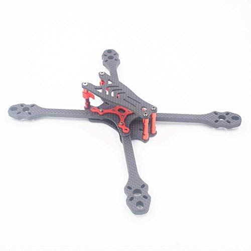 GzxLaY Fibra de Carbono 6 mm 5/6/7 Pulgadas FPV Freestyle Stretch X Quadcopter Frame Kit RC Drone Quadcopters Piezas Accesorios (Color: 215 mm (5 Pulgadas) Marco)