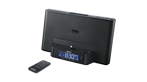 Sony ICFCS15IPN Lightning iPhone/iPod Clock Radio Speaker Dock (Black) (Discontinued