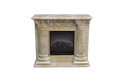 Antikes Wohndesign Kamin Kamine mit Fernbedienung Elektrokamin Elektrokamine Marmor Braun Gold