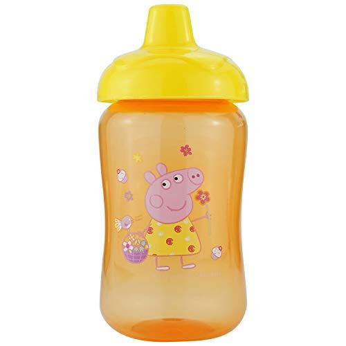 HOVUK Peppa - Vaso de cristal de color naranja para niños con estampado de Peppa multicolor, para niños