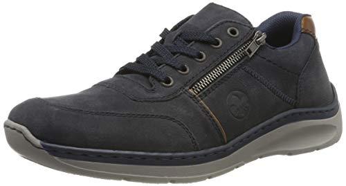 Rieker Herren B8900-14 Sneaker, Blau (Navy/Braun/Mogano 14), 43 EU