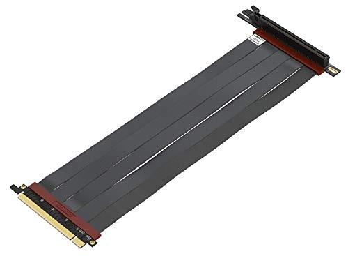 LINKUP - Ultra PCIe 4.0 X16 Riser-Kabel [RTX3090 x570 B550 RX6900XT Getestet] Geschirmte Vertikale Steigleitung Portverlängerungs Gen4┃90 Grad Buchse {30cm} PCI Express 3.0 Gen3 Kompatibel