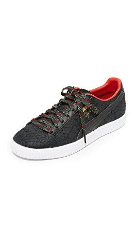 PUMA Women's Clyde GCC Sneakers, Black, 7.5 B(M) US