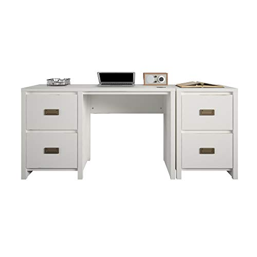 Little Seeds Monarch Hill Haven Single Pedestal Desk & Nightstand Desk and Nightstand, White