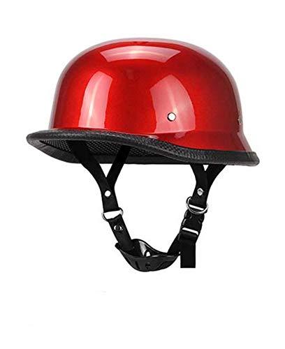 Casco De Moto Abiertos Retro Motocicleta Casco Half-Helmet, Todas Las Temporadas Hombres Y Mujeres, Unisex para Moto Crucero Chopper Retro Medio Casco con Gafas, ECE Homologado