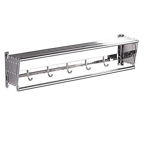 QTWW Perchero Multifuncional para Toallas montado en la Pared Perchero para Secadora de Caballos - Rejilla para Secado de Ropa retráctil Tendederos Línea de Lavado Estante para Toallas Extensible