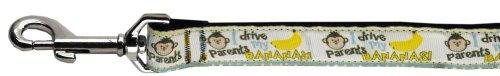 Mirage Monkey madness nylon band halsband met linnen, 6 feet Length x 1-inch Width