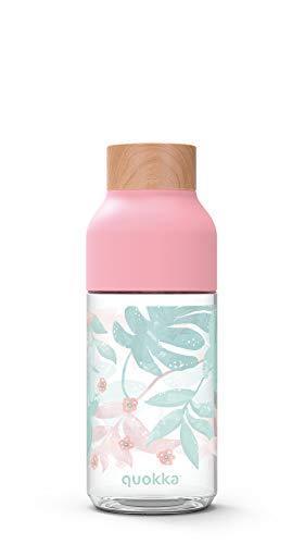 Quokka Ice - Palm Springs 570 ML| Botella de Agua Reutilizable de Tritan - Libre de BPA | Amplia Apertura para Rellenar y con tapón antigoteo