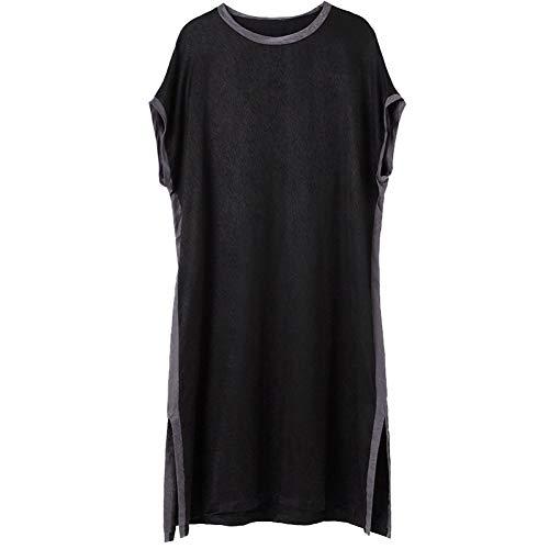 BINGQZ Cocktail Jurken Echte rok vrouwelijke zomerjurk lange zwarte zomer grote maat temperament losse dames jurk