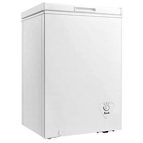 Avanti CF351D0W 3.5 Cu ft Chest Freezer/Adj Thermostat/Removable Storage Basket/White