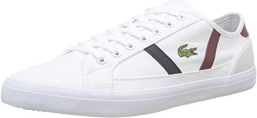 Lacoste Sideline 319 1 CMA, Sneaker Uomo, Bianco (White/Dark Red/Navy 222), 40 EU