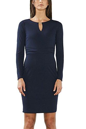 ESPRIT Collection Damen 017EO1E006 Kleid, Blau (Navy 400), 40 (Herstellergröße: L)