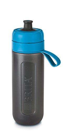 Brita Wasserfilterflasche, Deckel: Polypropylen; Mundstück: Polyethylen; Korpus: LDPE; Schlaufe: Silikon; Deckel: LDPE, Blau, 7.5 x 7.5 x 23.0 cm, 1 Einheiten