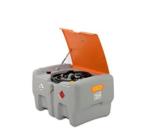 Mobile Dieseltankanlage Typ DT-Mobil Easy 440 l mit Elektropumpe 12V, 40 l/min und Klappdeckel