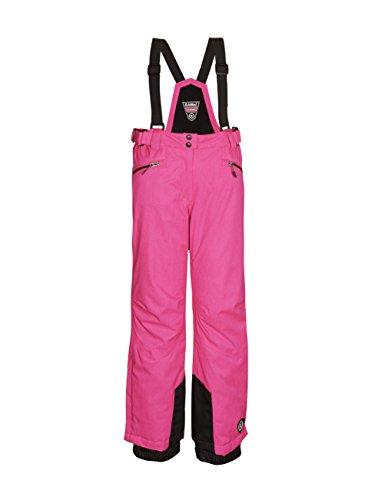 Killtec Kinder Funktionshose mit Trägern und Kantenschutz Hila, neon-pink Melange (White Melange), 140