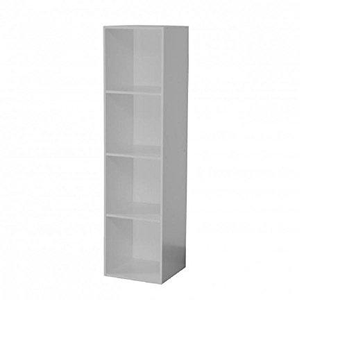 Meuble 4 Niches, Gris, 35,5x34x138,5 cm