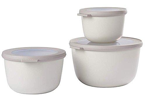 Mepal (500+1000+2000 White cirqula Set 3 dlg, Plastik, Nordic Weiß, 19.2 x 12 cm