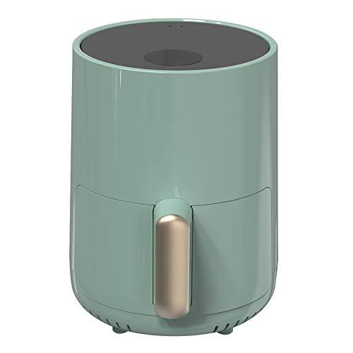 FENDOUBA Heißluftfritteuse Elegante grüne Air Fryer, Multifunktions automatische ölfreie elektrische Friteuse, 1.5L Smart-Touch-Low-Fett Pommes frites Maschine, Temperaturkontrolle, Non Stick Fry Bask