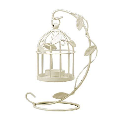 Westeng Bougeoir Cage à oiseaux en métal Photophore lanternes Home Mariage vintage Décoration de table