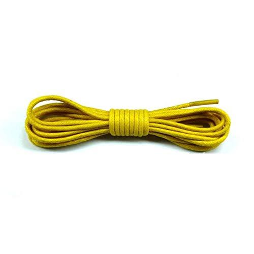 Huien 1 paar ronde schoenveters polyester stevige Martin laars schoenveter Casual sportlaarzen veters, geel, 120cm