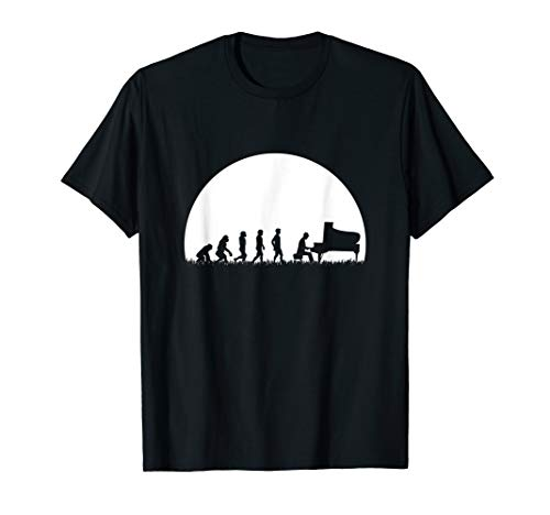 Piano Klavier Pianist Shirt Flügel Evolution Musik Geschenk T-Shirt