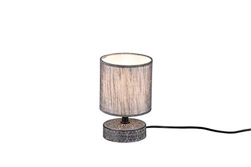 Lámpara de mesa con base de cerámica decorada con pantalla para mesilla...