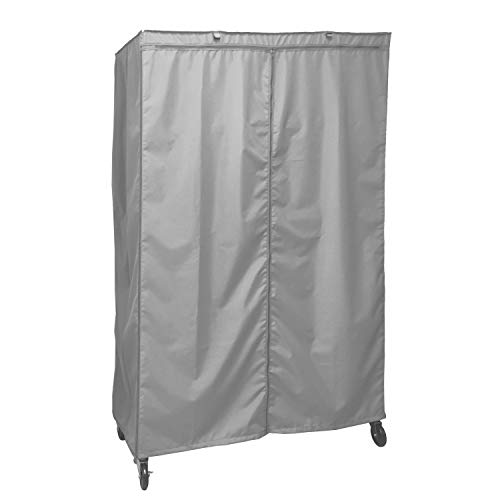 """Formosa Covers Storage Shelving Unit Cover, fits Racks 48"""" Wx24 Dx72 H (Cover only Grey Color)"""
