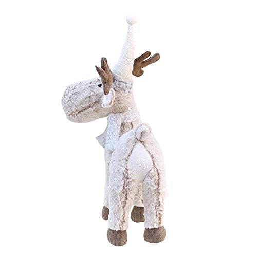 HUVE Weihnachten Rentier Plüschtier, Elchpuppe Tier Plüschtier, Weihnachten Plüsch Kuscheltier Rentier Spaß Weihnachtsfeier Geschenke Für Mädchen Jungen Urlaub Dekorationen